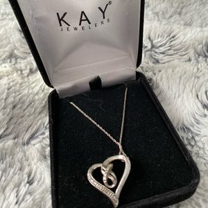 Kay heart infinity necklace